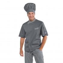 Veste de cuisine grise Isacco Durango manches courtes