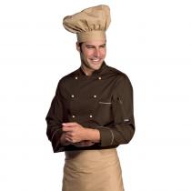 Veste de cuisine marron Profilata Isacco