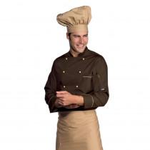 Veste de cuisine marron Isacco Extra Light Cuoco Cacao Biscotto