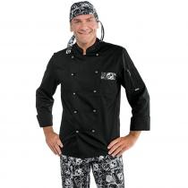 Veste de cuisine Noir à motif Isacco Bicolore