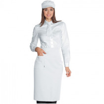 Tablier de cuisine / service blanc Isacco Dakar 100% coton