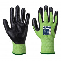 Gants anti-coupures Portwest A645 Green Cut 5 Mousse Nitrile