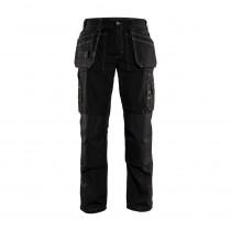 Pantalon artisan été Blaklader polycoton 166g/m² Noir avant