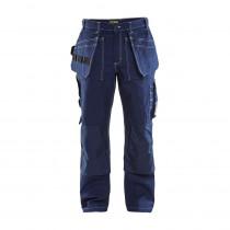 Pantalon de travail artisan Blaklader 100% coton croisé 370 g/m² Marine avant