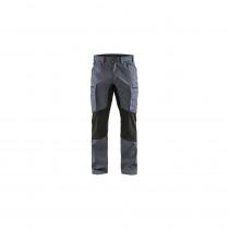 Pantalon de travail services stretch tissu 1845 Blaklader Gris / noir