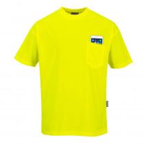 Tee Shirt manches courtes à poche Portwest Day-Vis