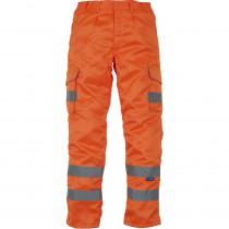 Pantalon Cargo haute visibilité Homme Yoko orange