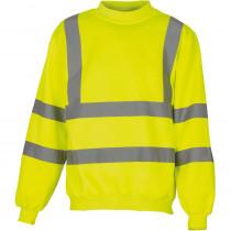 Sweat-shirt de travail haute visibilité Yoko jaune