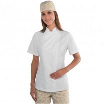 Veste de cuisine femme ultra légère blanche Isacco Lady Extra Light