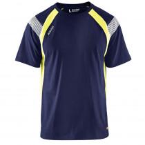 T-Shirt haute visibilité Blaklader bicolore 100% coton