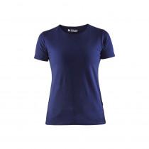 T-shirt femme col rond Blaklader Bleu marine face