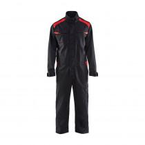 Combinaison de travail industrie manches longues polycoton Blaklader Noir poches rouges avant