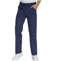 Pantalon de cuisine bleu à carreaux Isacco Glasgow