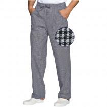 "Pantalon de Cuisine Isacco Pantalaccio ""Pied de Poule"" 100% coton"