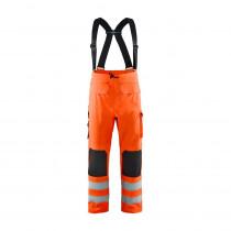 Pantalon de pluie à bretelles haute visibilité Blaklader Orange face