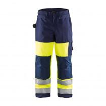 Pantalon de travail haute visibilité Blaklader hiver renforts cordura