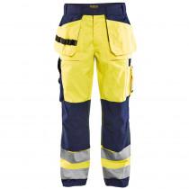 Pantalon de travail haute visibilité Blaklader bicolore multipoches