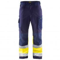 Pantalon de travail haute visibilité softshell Blaklader Stretch cl...