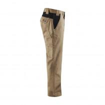 Pantalon de travail industrie polycoton Blaklader Beige poches noires côté