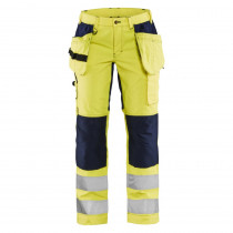 Pantalon à poches flottantes haute visibilité femme Blaklader +STRETCH