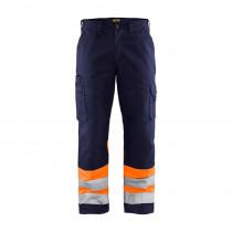 Pantalon haute visibilité poches jambes spacieuses Blaklader Marine / orange