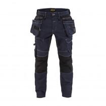 Pantalon X1900 artisan stretch Blaklader Marine / Noir Face