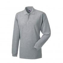 Polo de travail 100% coton manches longues Russell 569 gris