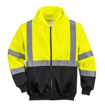 Sweat à capuche haute visibilité Portwest bicolore zippé