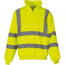 Sweat-shirt de travail 14 zip haute visibilité Yoko jaune