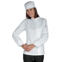 Veste de cuisine blanche femme Isacco 100% coton