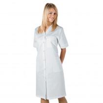 Blouse blanche laboratoire femme col V Isacco Michelle 100% coton m...