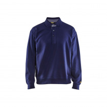 Sweat de travail col polo Blaklader marine