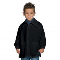 Blouse enfant Isacco noire zippée 6 à 11ans