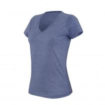 T-shirt de travail col V manches courtes femme Kariban mélange