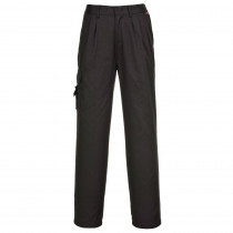 Pantalon treillis femme Portwest Workwear Noir