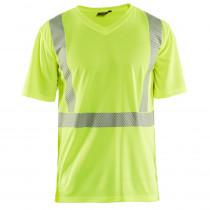 T-shirt haute visibilité Blaklader col v 100% polyester anti-odeur