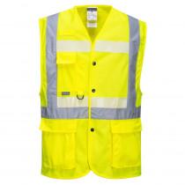 Gilet jaune haute visibilité exécutif Portwest Glowtex