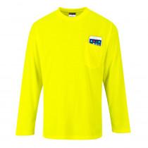 T-Shirt manches longues à poche Portwest Day-Vis