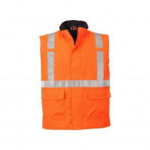 Bodywarmer haute visibilité antistatique Portwest Bizflame orange