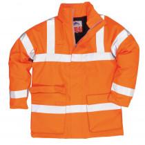 Parka haute visibilité antistatique Portwest Bizflame Rain Orange