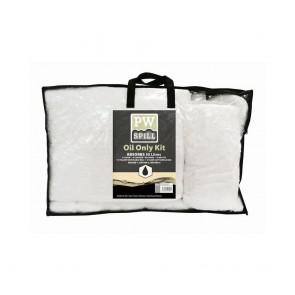 Lot de 3 kits Portwest pour déversement de 50 litres d'huile maximum blanc
