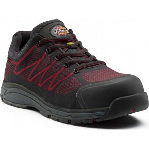 Chaussure de sécurité basse Dickies Liberty S1P SRC ESD Noir/rouge