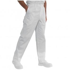 Pantalon blanc cuisine / médical Isacco Lavoro 100% coton
