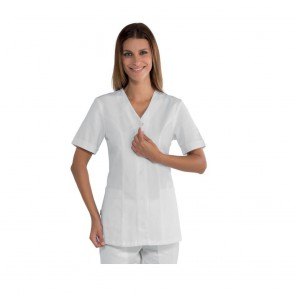 Tunique médical femme Isacco Sion blanche 100% coton