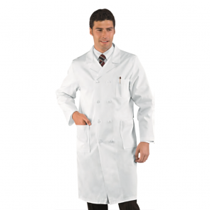 Blouse blanche médicale homme Isacco Medico 100% coton
