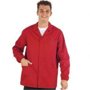 Blouse de travail rouge Homme Isacco
