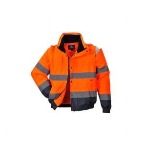 Blouson 2 en 1 Haute visibilité Portwest Orange/Marine