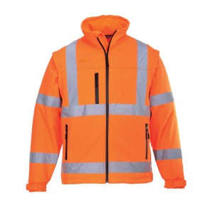 Blouson de travail Haute visibilité Softshell Portwest Orange Fluo