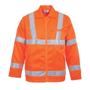 Veste poly-coton Haute Visibilité Portwest GO/RT - Orange