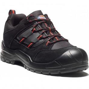 Chaussure de sécurité Dickies Everyday noir rouge